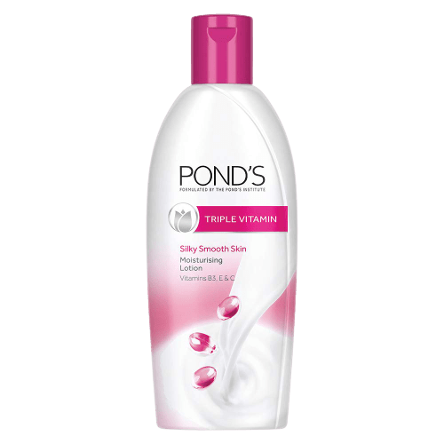 ponds triple vitamin is also a best lotion or moisturizer for dry skin for dry skin winter