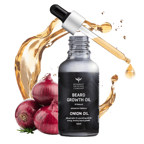 ombay Shaving Company Beard Growth Onion Oil-10X Nourishing Oils For Stronger, Fluffier & Shinier Beard 30 ml